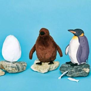 YOU+MORE!x大阪海遊館♪可隨意翻轉改變樣貌的「國王企鵝3變化玩偶」