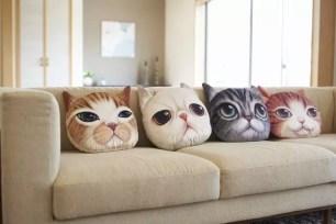 需要抱緊處理♡♡♡可愛貓臉&狗臉造型抱枕「Koira&Kissa」共8款