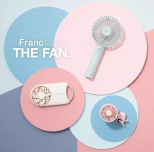 日本Francfranc「frais 手持風扇」更新改版共6色+2種全新款式上市