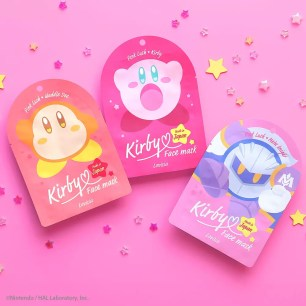 日本美妝品牌「Lovisia」超可愛的「星之卡比 造型面膜」新上市♡共3種樣式