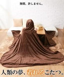 冬天就與暖桌融合在一起!nissen 網路限定「能穿上身的暖桌」共兩色
