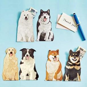 日本雜貨品牌YOU+MORE!「可愛狗狗吐舌趣味禮金袋」共6種