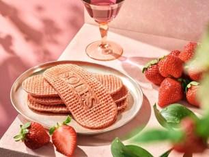 法式薄脆鬆餅專售店的期間限定口味♡「BUTTER GAUFRETTE香甜草莓」還有現烤版