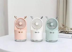 可愛鹿角設計的隨身風扇限量特惠販售!「HBLINK Antler 噴霧多用途風扇」共3色