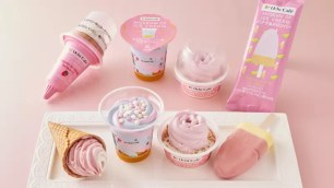 日本LAWSON便利商店x美國體驗型博物館「MOIC」4種上相繽紛聯名冰品♪