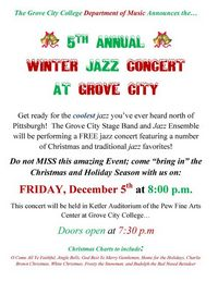 Grove City College Winter Jazz 2008 Flyer
