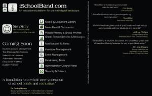 iSchoolBand Flyer Back