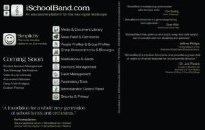 iSchoolBand Flyer Back
