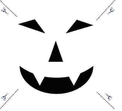 Halloween Kürbis Gesicht schnitzen Vorlage 1 Muster und