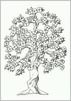 Unglaublich Malvorlage Baum Mit Blüten   Bibliothek ...
