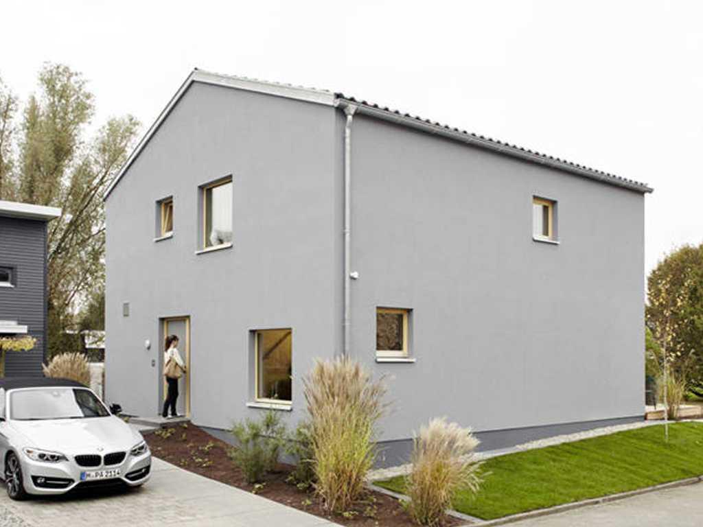 Schöner Wohnen Haus Eine Wand In Der Farbe Von Pfirsichsorbet