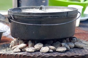 Dutch Oven On Charcoal
