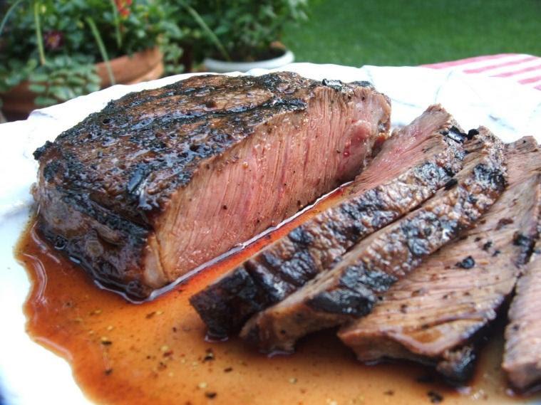 steak on pellet grill