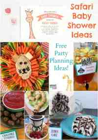 Safari Baby Shower Free Party Planning Ideas: Food, Games