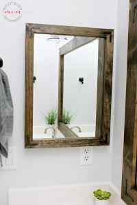Farmhouse Style DIY Vanity Mirrors Tutorial - Must Have Mom