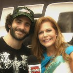 Susan Cingari and UFC fighter Charles Brenneman at UFC on FX 3 in Miami