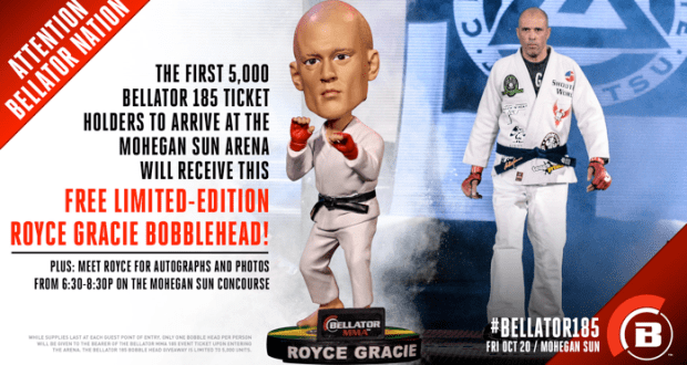 royce gracie bellator mma bobblehead bobble head