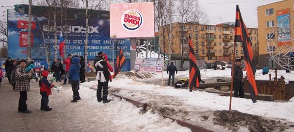 """Год назад активисты НОДа уже пытались провести в Петрозаводске митинг против """"пятой колонны"""", но он фактически провалился. Фото: Валерий Поташов"""