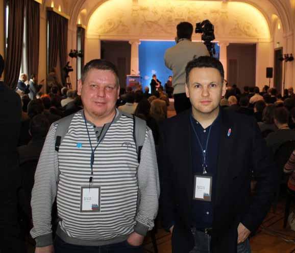 Уехавший в Эстонию карельский журналист Вадим Штепа (слева) и получивший в Эстонии политическое убежище блогер из Карелии Максим Ефимов встретились на Форуме Свободной России в Вильнюсе. Фото: http://maxim-efimov.livejournal.com