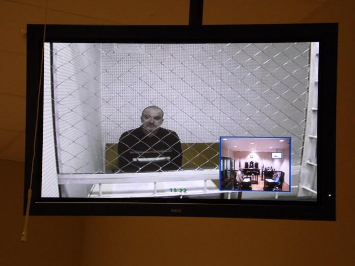 Дмитрий Синица давал показания по видеосвязи. Фото: Алексей Владимиров