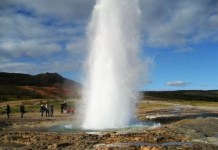 Исландская политическая жизнь похожа на гейзер. Фото: facebook.com
