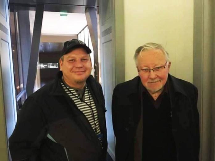 Вадим Штепа с экс-председателем Сейма Литвы Витаутасом Ландсбергисом. Фото из личного архива
