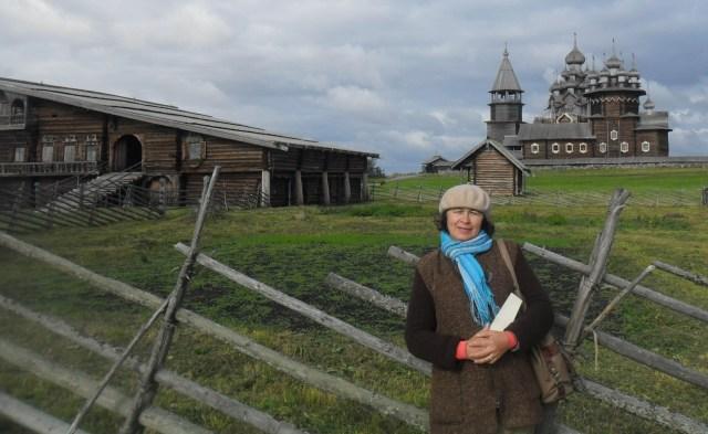 Зульфия Шевченко на острове Кижи. Фото: Татьяна Смирнова