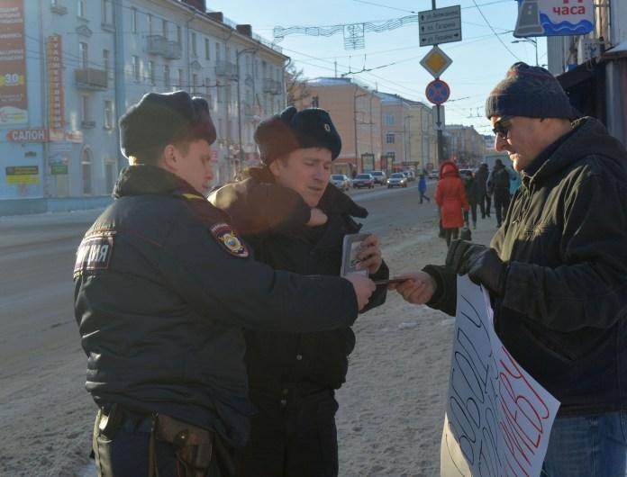 Акция прошла без инцидентов. Фото: Алексей Владимиров