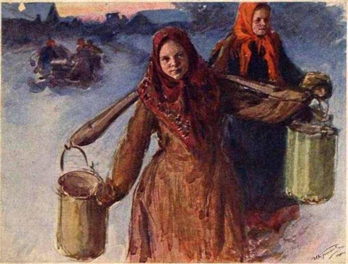 Репродукция полотна русского художника Ивана Куликова