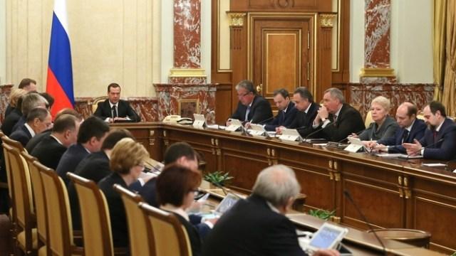 Премьер-министр Дмитрий Медведев на заседании российского кабмина. Фото: правительство.рф