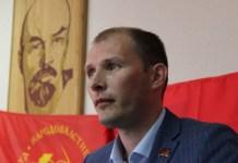 Лидер карельских коммунистов Евгений Ульянов. Фото: Валерий Поташов