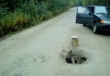 Так выглядит дорога на Валдай. Фото местных жителей