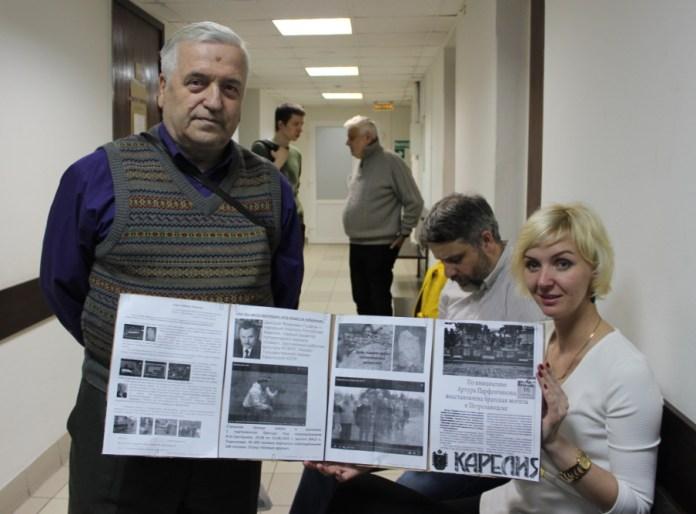 Борис Строгальщиков вместе с дочерью Юрия Дмитриева Екатериной Клодт. Фото: Валерий Поташов