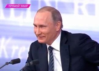 "Читатели ""Черники"" не хотят видеть Путина на посту президента. Фрагмент телетрансляции с участием главы государства"