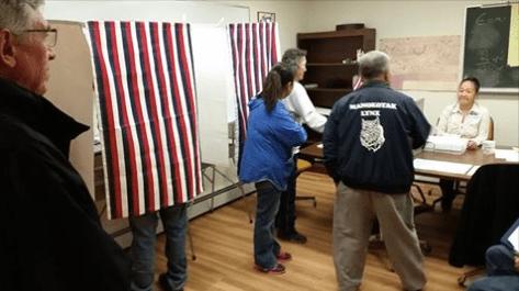 Lt. Gov. Mallott observed voting in Togiak.