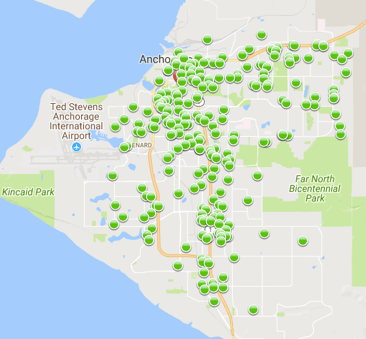 Anchorage\'s 30-day car theft map - Must Read Alaska