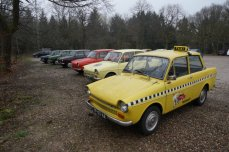 """Meeting Old timer Club of Dutch National Car """"DAF"""" at highest point of Holland."""