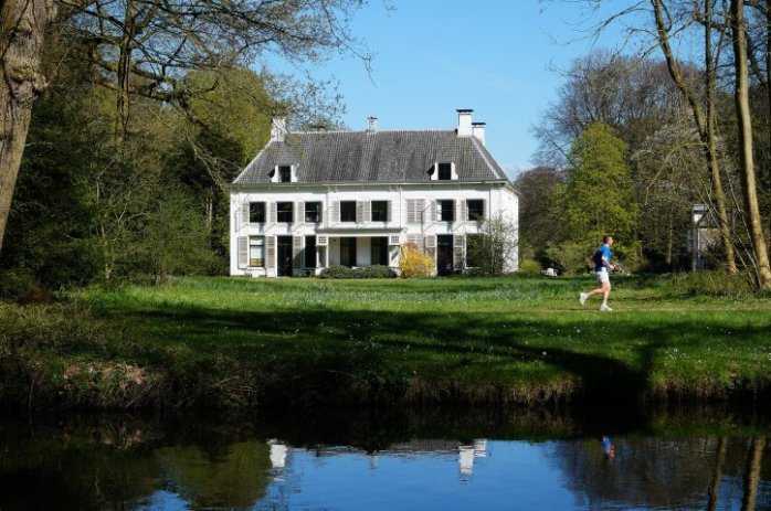 New Amelisweerd seen from the tow path along the river