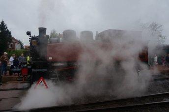 Entering the Railway Station of Maldigem.