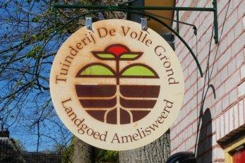 "Sign of the bio dynamic garden ""De volle Grond""."