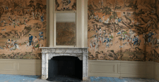A Collection of Chinese wallpaper which is almost 250 years old covers the walls of the main salons.