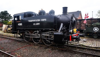 Steam Trains in Holland and Belgium. Former Locomotive from the US Army