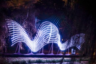 Glow Light festival Eindhoven Gliding Object
