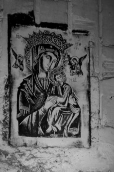 Relegious art in the caves underneath the Pietersberg in Maastricht
