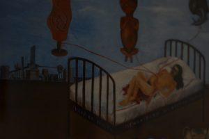 Oleo autoretrato de Frida Kalho, los padecimientos del accidente