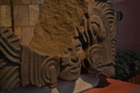 Sala Mexica, cara Labrada en piedra