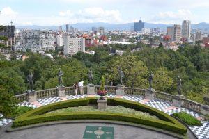 Terraza del castillo de Chapultepec