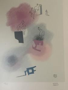 """""""Cielos lumínicos"""" litografía, Carlos Mérida, 1941"""