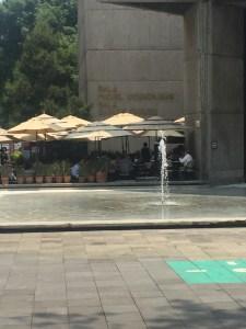 El café en la plaza menor del CCU.