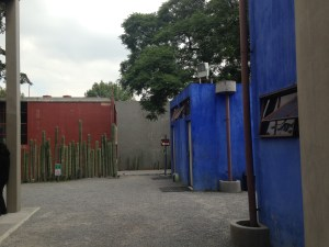The outside yard of the Diego Rivera Studio House